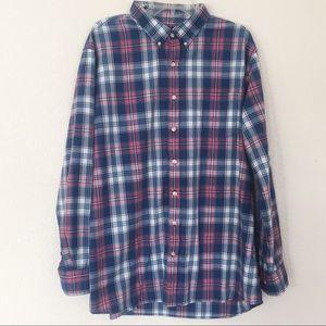 Sonoma Plaid Long Sleeve Button Down Shirt